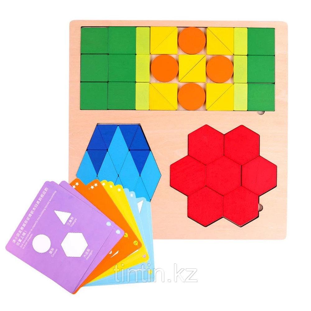 Деревянная геометрическая мозаика