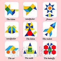 Деревянная геометрическая мозаика, фото 2