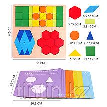 Деревянная геометрическая мозаика, фото 3