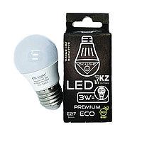 Лампа светодиодная серии PREMIUM 3W цоколь Е27 - 3000К-Теплый белый свет