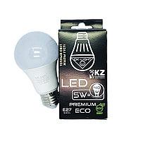 Лампа светодиодная серии PREMIUM 5W цоколь Е27 - 3000К-Теплый белый свет