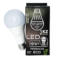Лампа светодиодная серии PREMIUM 15W цоколь Е27 - 3000К-Теплый белый свет
