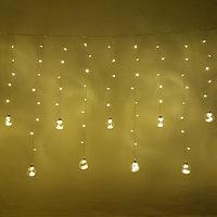 """Световая гирлянда бахрома """"Шары"""" - 2,7х1,25 метра, 12 шаров, тёплый свет, 8 режимов свечения"""