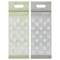 Пакет закрывающийся БАМСИГ 20 шт. зеленый, бежевый ИКЕА, IKEA, фото 1
