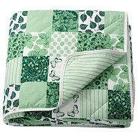 Покрывало АКСВЕРОНИКА зеленый, 180x220 см ИКЕА, IKEA, фото 1