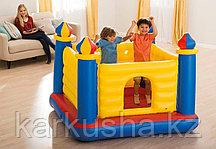 """Игровой центр-батут """"Замок"""" с окном Intex"""