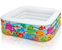 """Детский надувной бассейн Аквариум"""" Intex"""