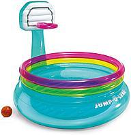 Детский надувной бассейн с баскетбольный кольцом Intex