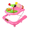 Ходунки детские Пальма с музыкальной панелью розовый