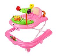 Ходунки детские Пальма с музыкальной панелью розовый, фото 1