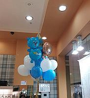 Облако шаров с фольгированными фигурами на выписку из роддома для мальчика