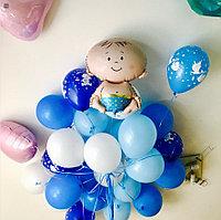 25 Гелиевых шаров и малыш. Шары на выписку