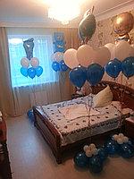 Оформление комнаты гелиевыми шариками для выписки из роддома