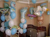Гелиевые шары на рождение мальчика. Шарики для выписки из роддома