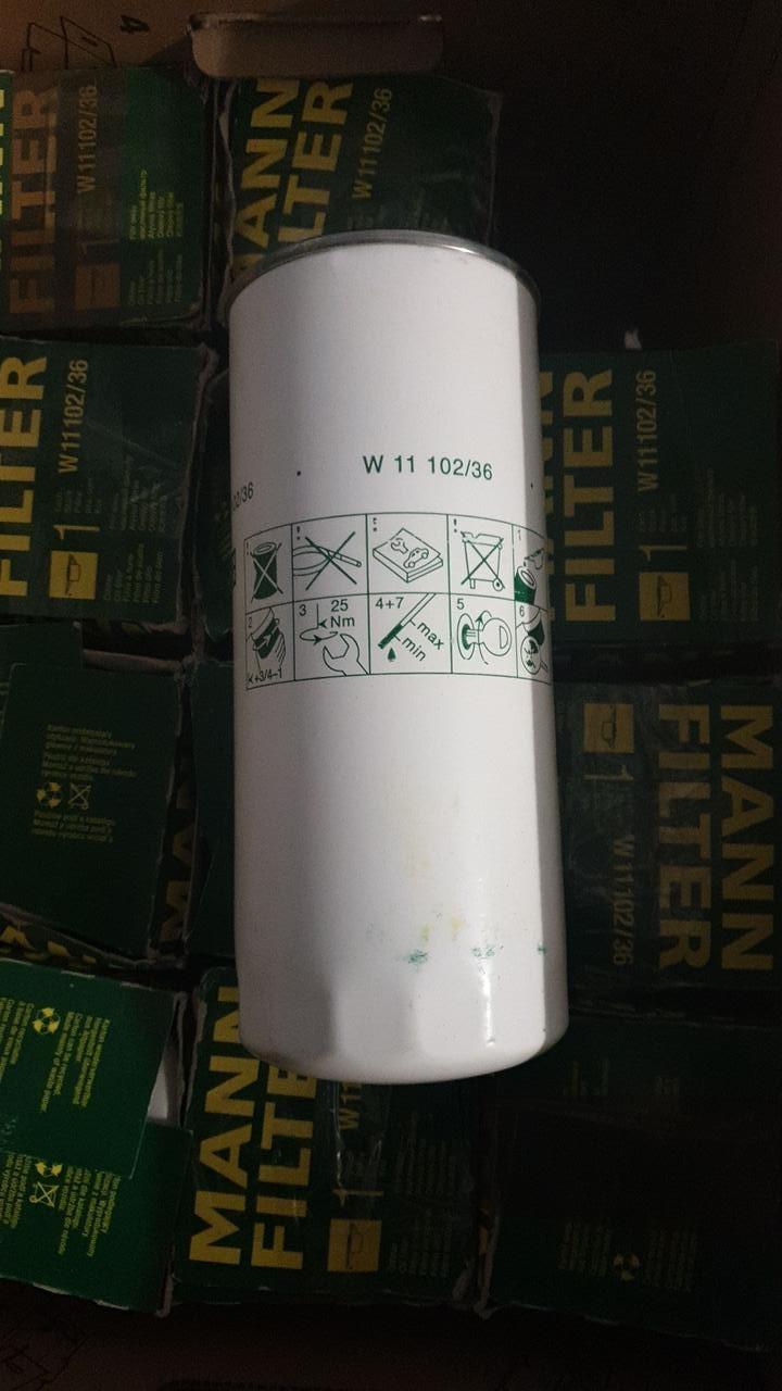 """D108/H260(1.1/8""""-16 UN) MANN W11102 Масляный фильтр аналог DEUTZ 12276605"""