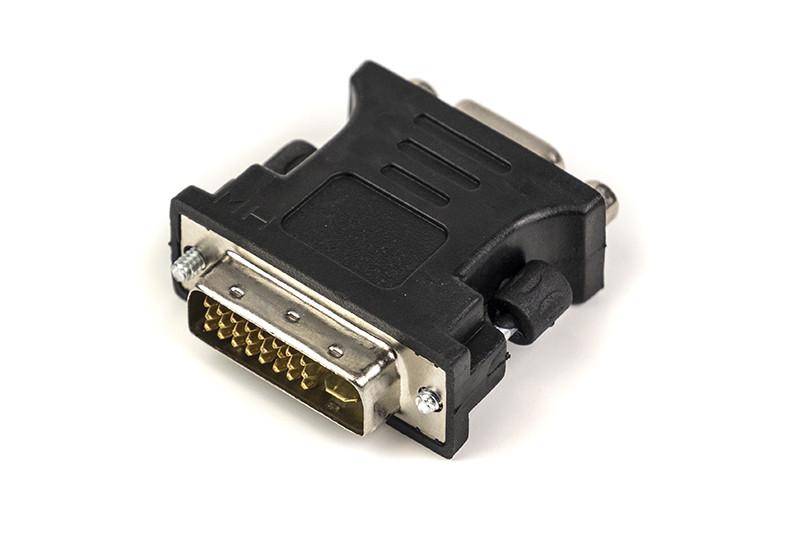 Переходник PowerPlant VGA - DVI-I, черный