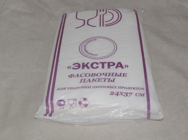 Пакет фасов. ПНД 24х37см (евроуп.), 10мкм, 1000 шт, фото 2
