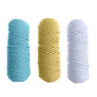 Шнур для вязания 3мм 100 хлопок, 50м/85гр, набор 3шт (Комплект 11)