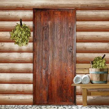 """Дверь для бани """"Классика"""", 190×80см, брашированная, морёная, лакированная, """"Добропаровъ"""""""