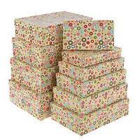 Набор коробок 10в1 'Кружки', 36,5 х 26,5 х 12 - 23 х 13 х 3 см