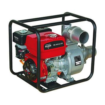 Мотопомпа Elitech МБ1610 Д 100, бензиновая, для чистой воды, 1600 л/мин, напор 25м, гл. 5м