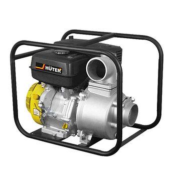 Мотопомпа бензиновая Huter MP-100 70/11/5, для чистой воды, 9560 Вт, 1300 л/мин, 4-х тактный   46809