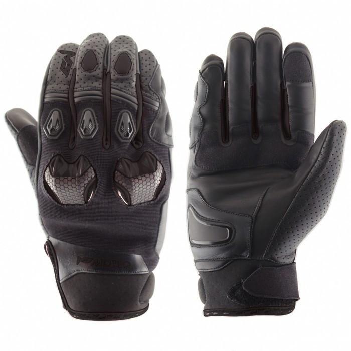Перчатки кожаные Stinger черные, XS