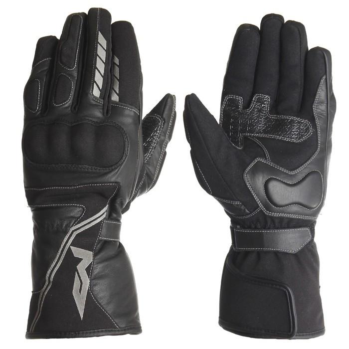 Кожаные перчатки VOYAGER2 чёрный, XS