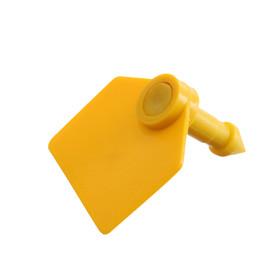Бирка двойная, ушная, 35 x 30 мм, под щипцы, жёлтая, 'Малая' (комплект из 20 шт.) - фото 1