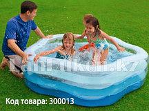 Детский бассейн Intex с надувным дном 56495 (185 х 180 х 53 см)