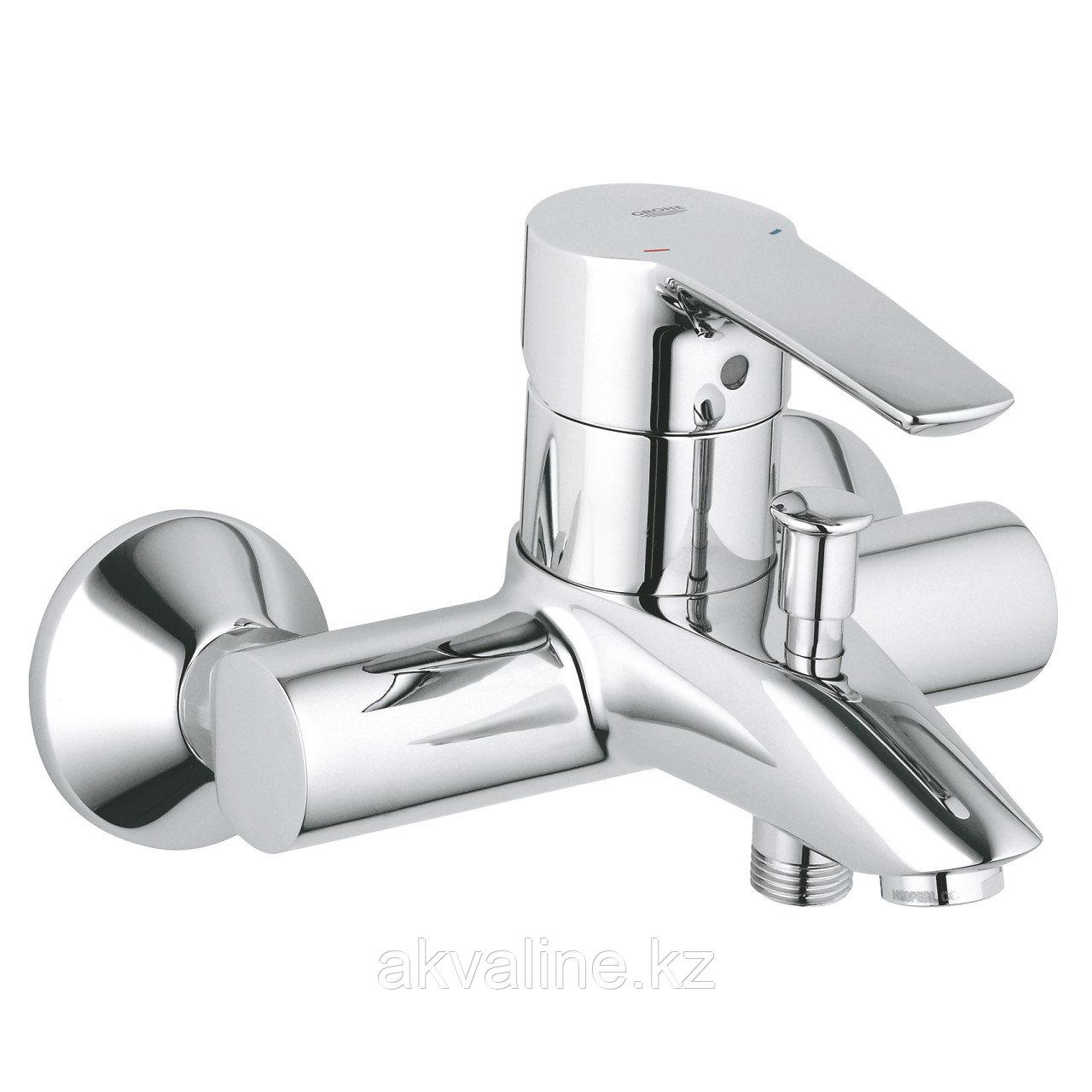 Комплект смеситель для ванны Eurostyle , штанга 600мм, ручной душ, шланг