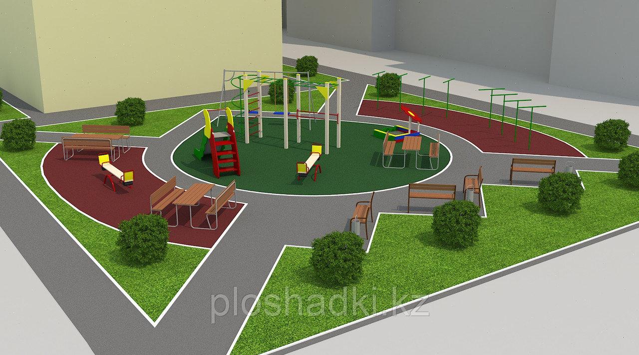 Обустройство детских площадок для детских садов и жилых комплексов