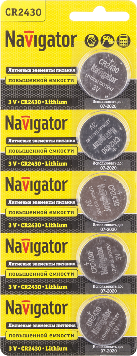 Элемент питания NBT-CR2430-BP5 94 781 Navigator