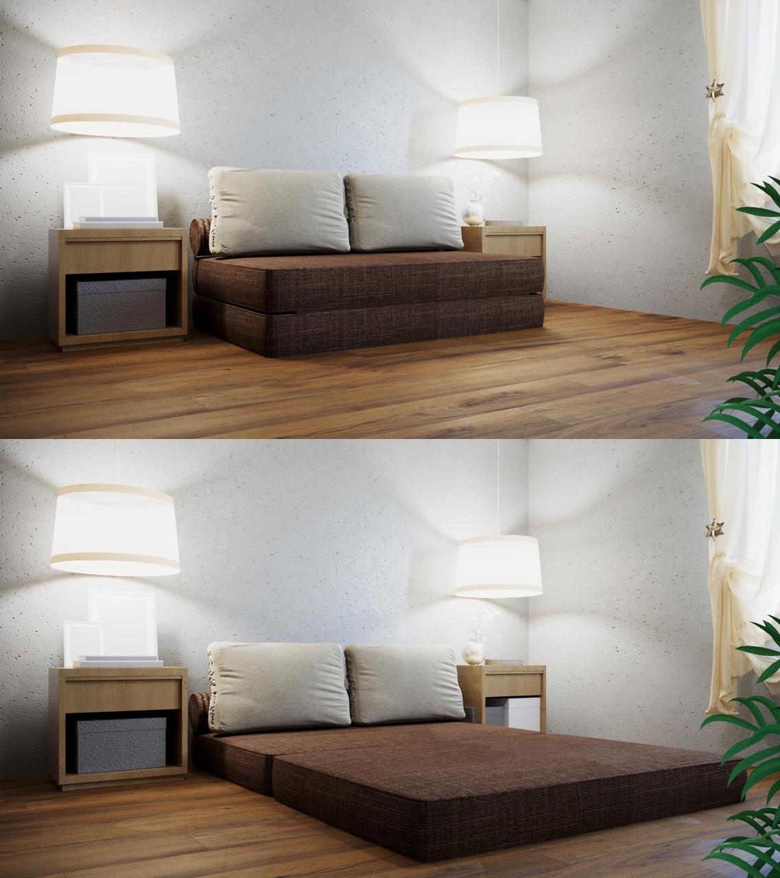 Трансформер Кресло-кровать бескаркасное «Butterfly» Chocolate