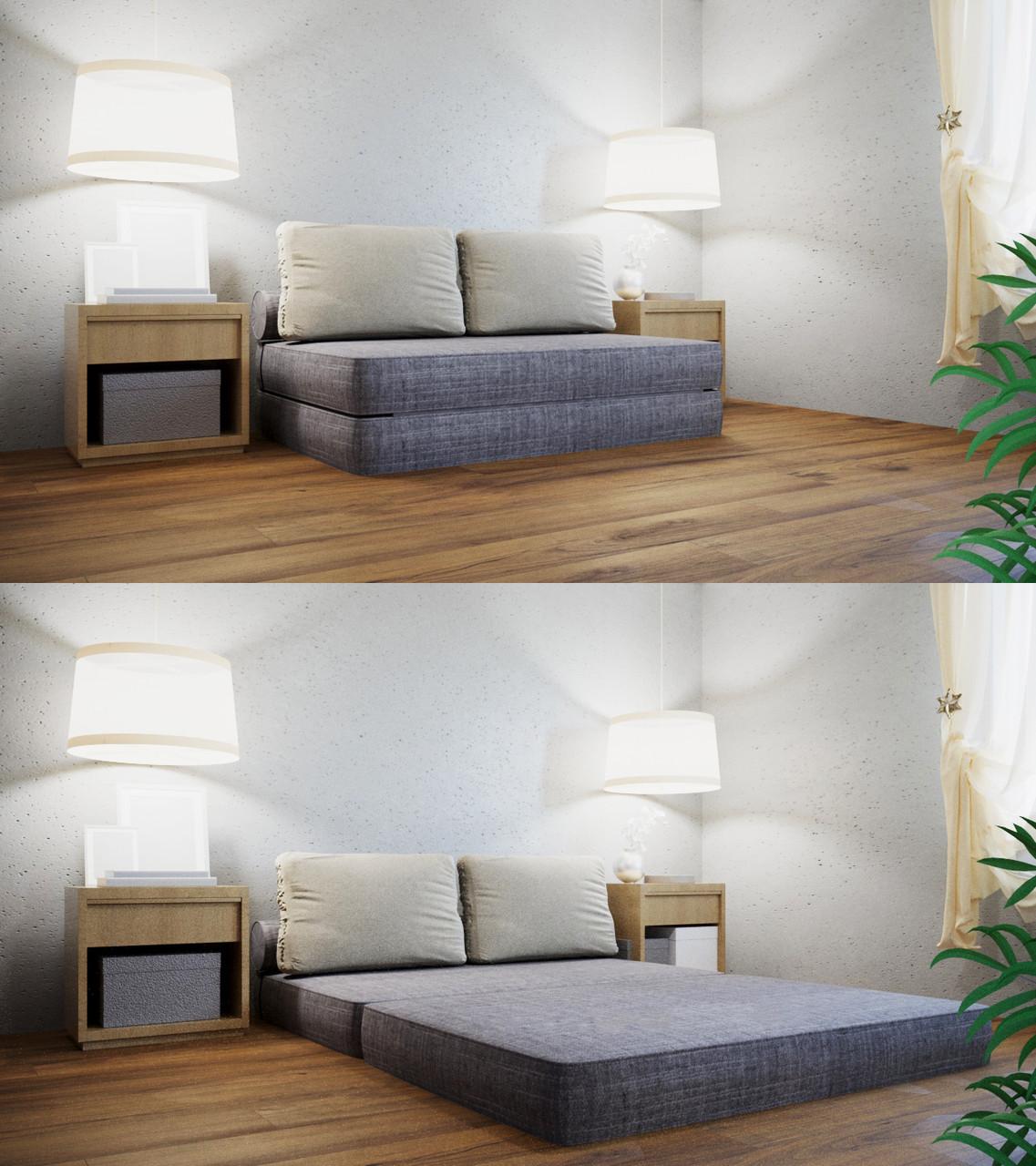 Трансформер Кресло-кровать бескаркасное «Butterfly» Gray