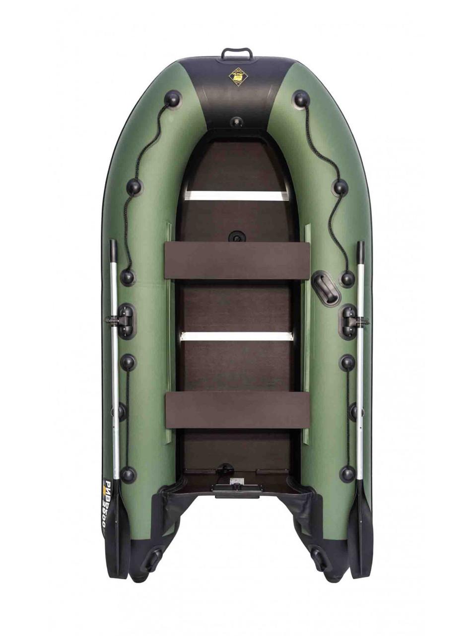 Лодка Ривьера Компакт 2900 СК касатка зеленый/черный