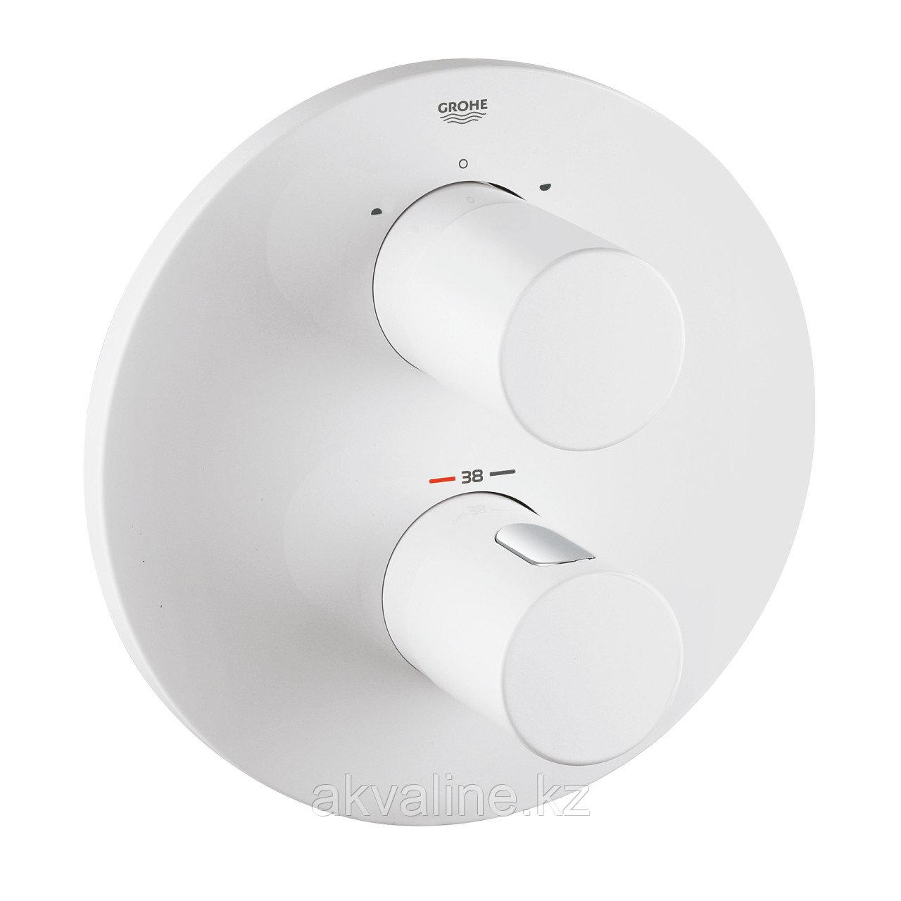 Комплект термостат для ванны с внутренней частью, душевой набор, верхний душ с кронштейном, белый цвет