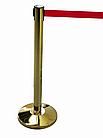 Напольная стойка-ограждение с выдвижной лентой (ЗОЛОТО), фото 5
