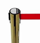 Напольная стойка-ограждение с выдвижной лентой (ЗОЛОТО), фото 6