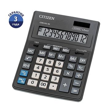 Калькулятор настольный Citizen Business Line CDB, 14 разр., двойное питание, 157*200*35мм, черный