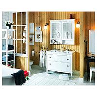 ХЕМНЭС / ОДЕНСВИК Шкаф для раковины с 2 ящ, белый, РУНШЕР смеситель, белый/РУНШЕР смеситель 103x49x89 см