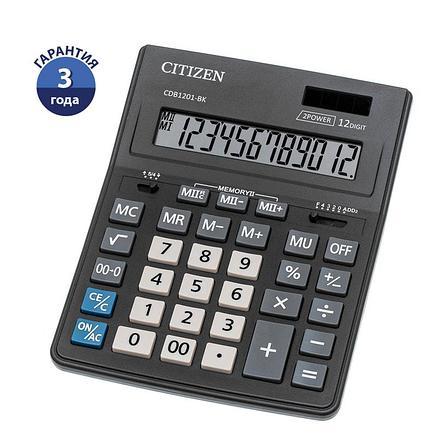 Калькулятор настольный Citizen Business Line CDB, 16 разр., двойное питание, 157*200*35мм, черный, фото 2
