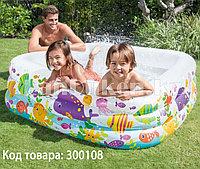 """Детский надувной квадратный бассейн """"Аквариум"""" INTEX (159* 159* 50 см) 57471"""