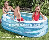 Овальный надувной бассейн Intex 57482 (163 x 107 x 46 см)