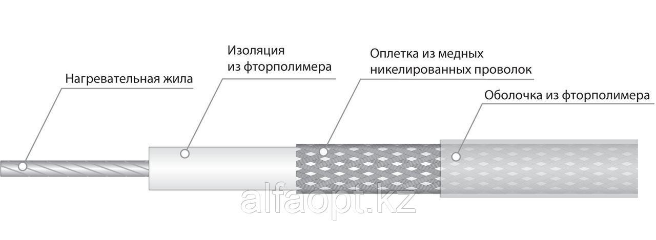 Электрический нагревательный кабель постоянной мощности СНФ 11R9