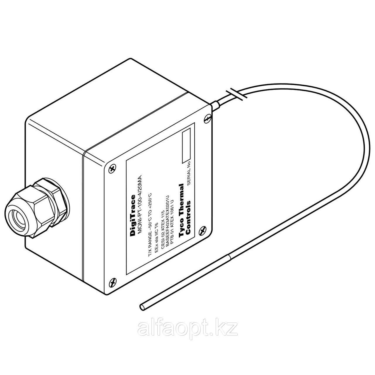 Платиновый датчик температуры c преобразователем, для взрывоопасных зон MONI-PT100-4/20MA