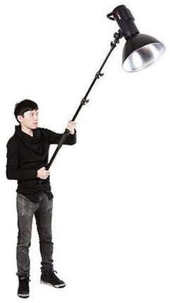 Телескопический держатель - «удочка» 300 см для микрофона, света и прочего, фото 2
