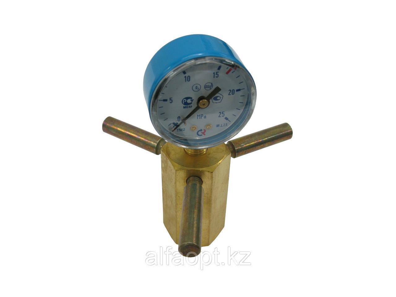 Устройство д/проверки давления кислородное
