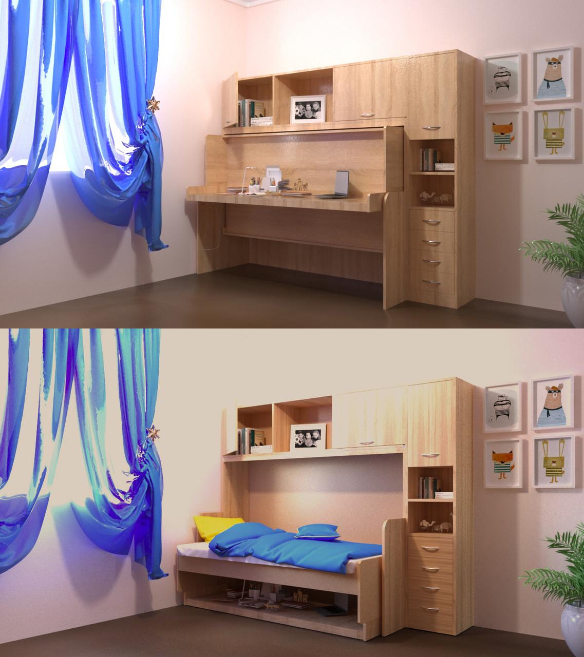 """Трансформер Стол-кровать """"Virika"""" Дуб сонома"""