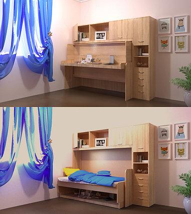 """Трансформер Стол-кровать """"Virika"""" Дуб сонома, фото 2"""